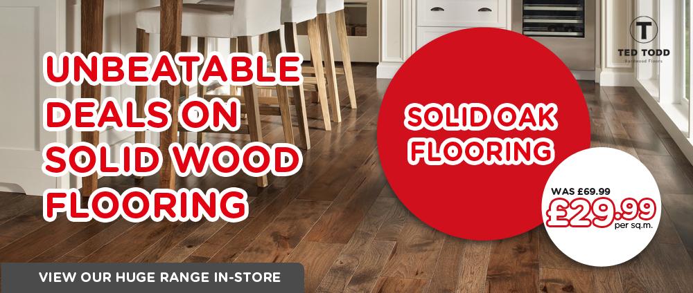 Solid Oak Flooring in Halifax - The Carpet Mill